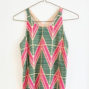 Geometric Racerback Shift Dress